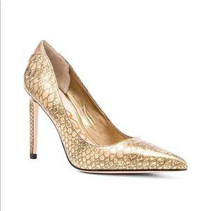 Sam Edelman Metallic Gold Stiletto Heels